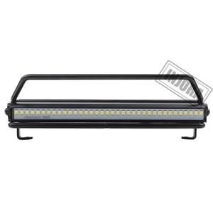 Image 2 - INJORA 245*150mm גג Rack מוביל עם LED אור בר עבור 1/10 RC מכונית סורק צירי SCX10 90046 Traxxas TRX4