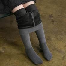 Зимние Детские теплые плотные колготки для девочек, плотные бархатные колготки, флисовые Хлопковые Штаны для малышей, балетные танцевальны...