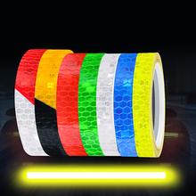 Bicycle Stickers Reflective Tape Fluorescent MTB Waterproof Strip Wheel Bike Accessories