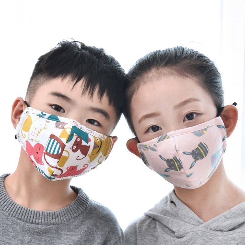 Cotton PM2.5 Children Mouth Face Mask Anti Dust Pollution Respirator Washable