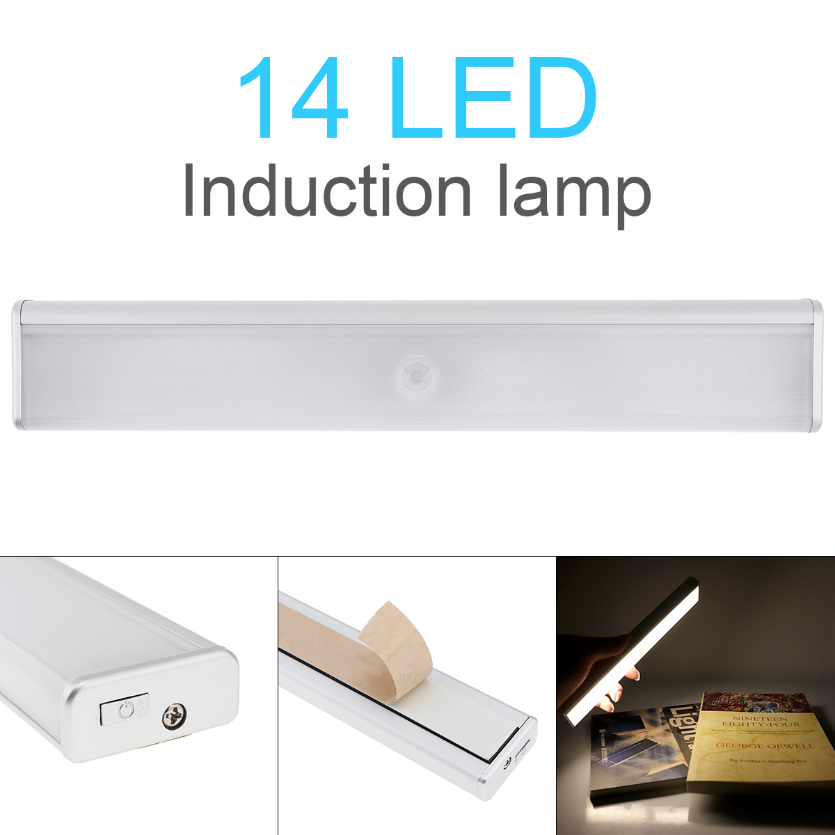 LED Under Cabinet Light USB Rechargeable Intelligent Portable PIR Motion Sensor Induction Lamp Night Light For Bedroom Closet
