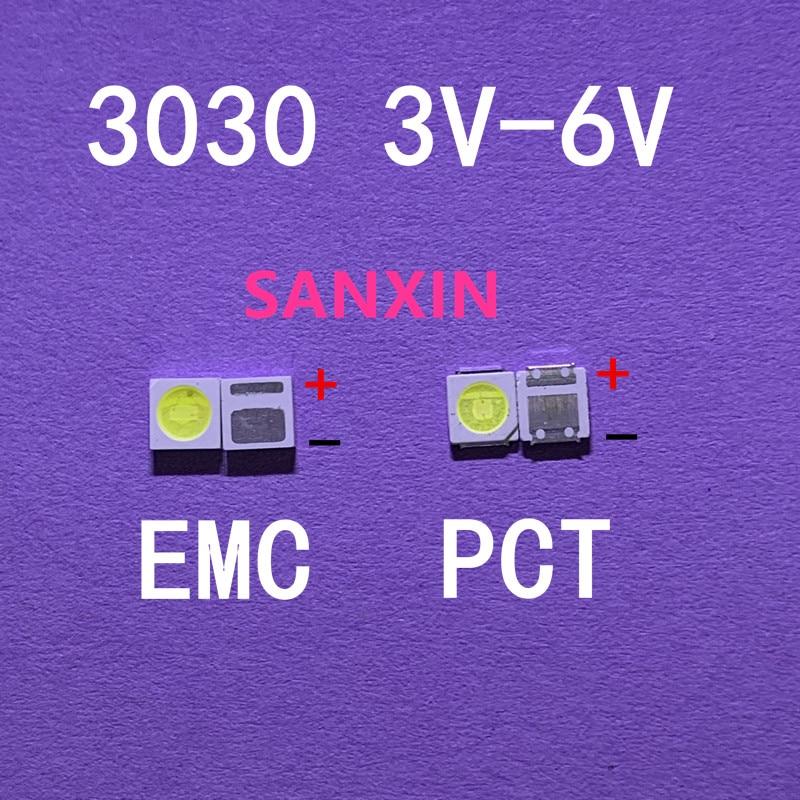 Светодиодный светильник с подсветкой, 1 Вт, 1,5 Вт, 2 Вт, 3030, 3 в, 6 в, холодный белый, 80 90 лм, для ТВ приложения, новый PCT, EMC, светодиодный, 3 в Подвесные лампочки      АлиЭкспресс