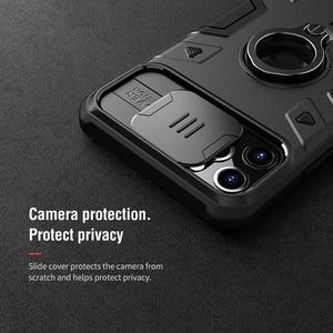 Image 4 - For IPhone 11 Pro durumda NILLKIN Lens koruma CamShield zırh vaka For iPhone 11 Pro Max ile halka Kickstand ve slayt kapağı