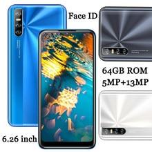 13MP HD Kamera 10i 6,26 zoll Wasser Tropfen Bildschirm Quad Core Android Gesicht Id Smartphones Entsperrt 4G RAM 64G ROM Globale Handys