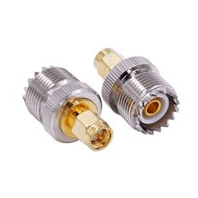 2 szt UHF żeńskie do SMA męskie PL-259 SO-239 złącze adaptera koncentrycznego RF pl259 konwerter tanie tanio SMAJ-UHFK
