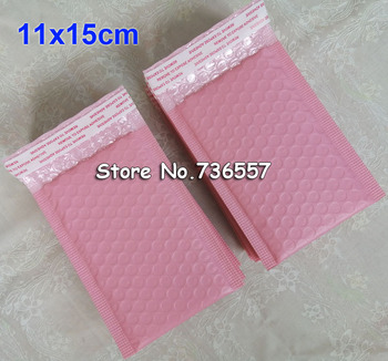 Enveloppes rembourrées à bulles rose 50pcs, 100 pièces 11x15cm, fermeture automatique, taille externe 4.3x5.9 pouces, taille utilisable
