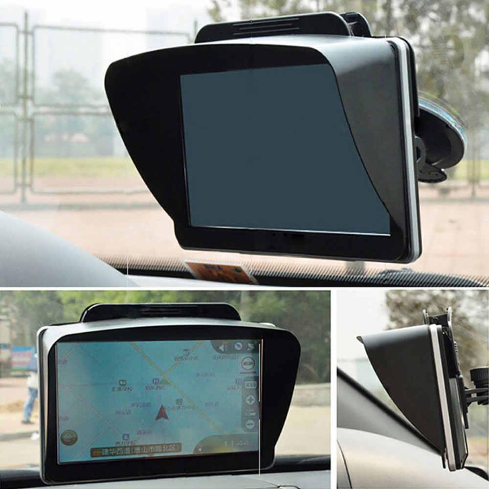Vehemo 7 ''GPS Sunshade SHIELD GPS Sunshade Shade ความปลอดภัยสำหรับรถยนต์ GPS Sunshade Visor Universal AUTO