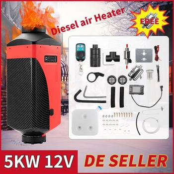 Renoster 5KW Air Heater 12V Parking Heater Red Shell LCD Display webasto Car Heater for Camper Van Bus Boats Fan Diesel Heater