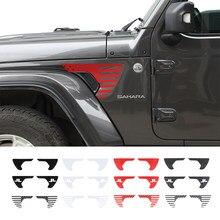 SHINEKA Exterior del coche Etiqueta de PVC hoja de Fender etiqueta de la tapa para Jeep Wrangler JL JT gladiador 2018-2020