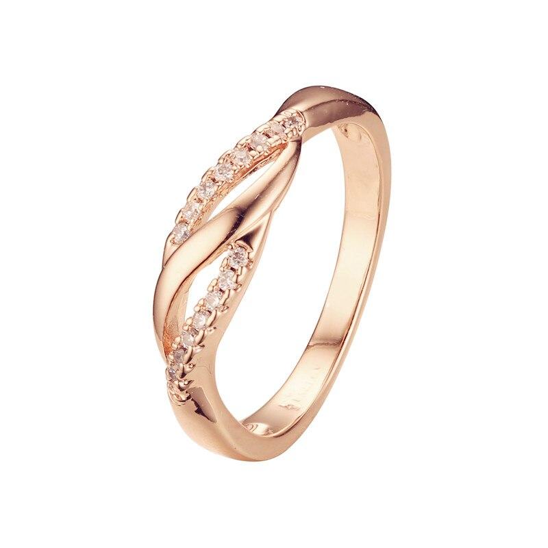 Модные женские Кольца 585 золотого цвета ювелирные изделия белые кубические циркониевые кольца дизайн для женщин|Обручальные кольца|   | АлиЭкспресс