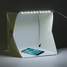 цена на 22*24*24cm Photo Studio Box Portable Photography Studio Photo Box Photo Studio Accessories With Light