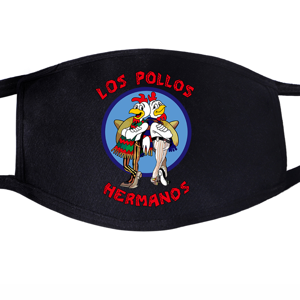 Breaking Bad Face Mouth Masks LOS POLLOS Hermanos Chicken Brothers Dustproof Unisex Anti Dust Black Half Face Breathable Mask
