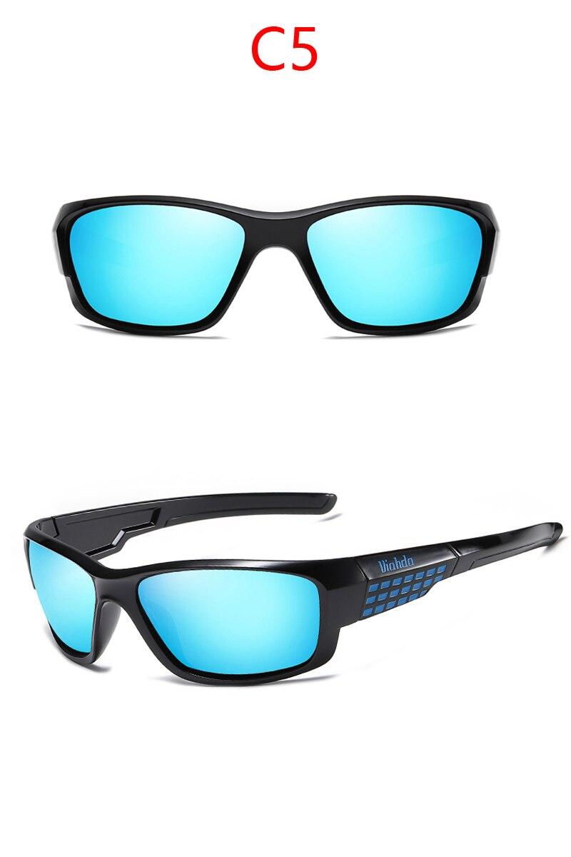 Viahda marca design novo polarizado óculos de
