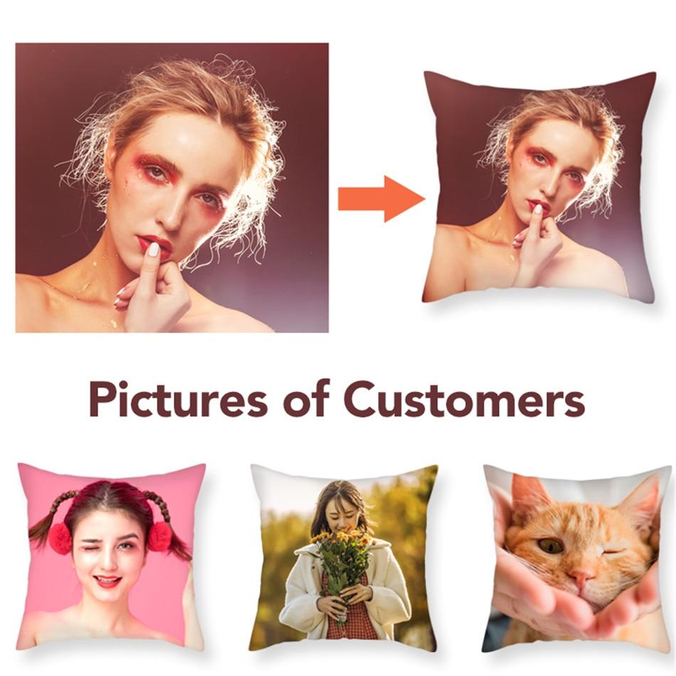 Fuwatacchi Design Imagem Aqui Print & Pet & Vida Pessoal Do Casamento Foto Personalizar Presente Fronhas Capa de Almofada Casa 2019 Novo