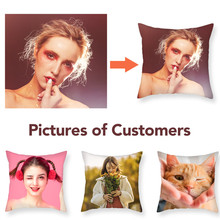 Fuwatacchi Design Picture Here Print & Pet Wedding Personal Life Photo Customize Gift Home Cushion Cover Pillowcases 2019 New