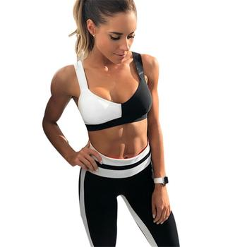 2019 New Yoga Suits Women Gym Clothes Fitness Running Tracksuit Sports Bra Sport Leggings Yoga Shorts Top 2 Piece Set 1