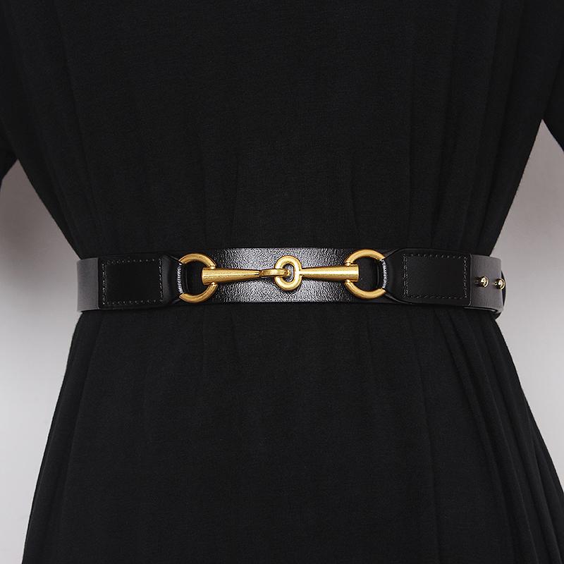 Simple Design Plain Real Cow Leather Belt Women Waistband Fashion All Match Jean Pant Dress Belt Genuine Leather Waist Belt 2021