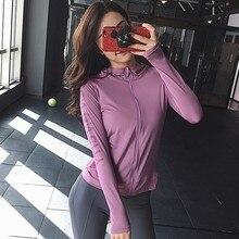 Тонкая куртка для бега с буквенным принтом Джерси женское спортивное пальто с капюшоном на молнии топы для фитнеса и йоги облегающая Спортивная Толстовка S, XL