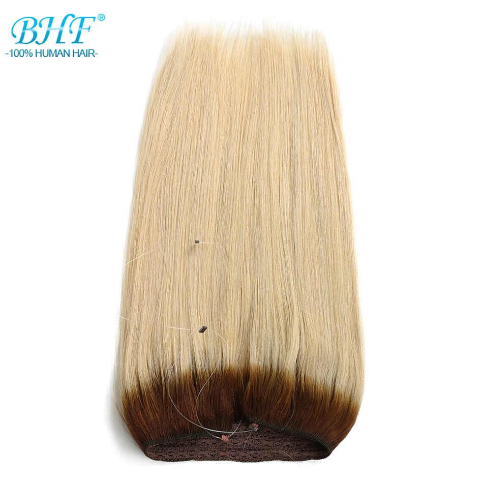 """Bhf прямые искусственные волосы одинаковой направленности европейские флип человеческие волосы все цвета в наличии 18 """"100 г леска волосы расширение 16 дюймов 70 г"""