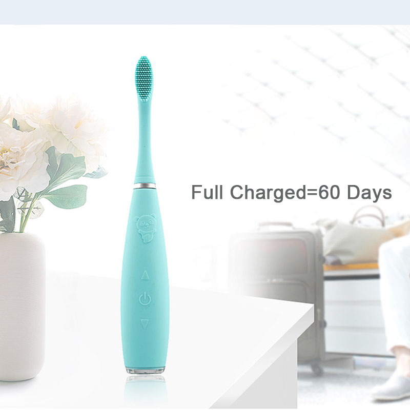 Silicone Automatic Electric Toothbrush USB Rechargeable for Child Ultrasonic Travel Toothbrush IPX7 Waterproof Tooth Brush
