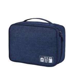 Image 5 - HJKL bolsa Digital para accesorios de viaje, Cargador USB, bolsa de almacenamiento para auriculares, organizador electrónico grande a prueba de golpes