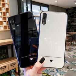 На Алиэкспресс купить стекло для смартфона for vivo v11 v11i v17 pro v9 v7 plus v3 max case simple slim heart hard glass soft silicone cover for vivo v15 pro v5 lite funda