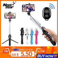 3 IN 1 Wirleless Bluetooth Selfie Stick Mini Selfie Remote Retractable Handheld Rotary with Tripod for Iphone/Android Smartphone