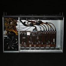 Mineiro bitcoin caso sistema de servidor usb mineiro quadro eth btc xmr equipamento de mineração 8 gpu rack para onda ak2980 k7 k15 b250 d8p 55 chassis