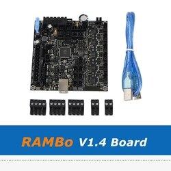 RAMBo 1.4 ATMEGA2560 pokładzie wszystko na jednym zintegrowana płyta główna dla Arduino Lulzbot Taz6 3D drukarki