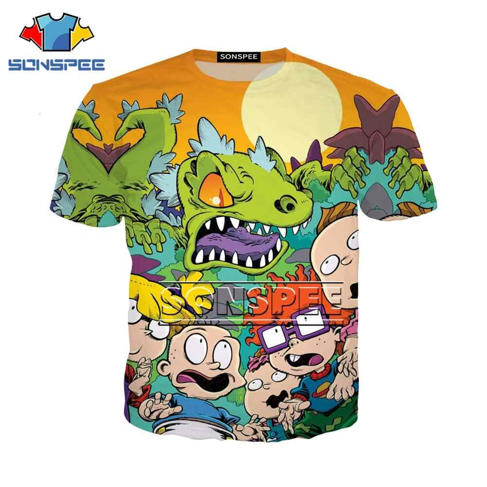 Rugrats T Shirt Women Summer Tops 3D Print T-shirt Femme Funny casual Short Sleeve Harajuku Tees women g1