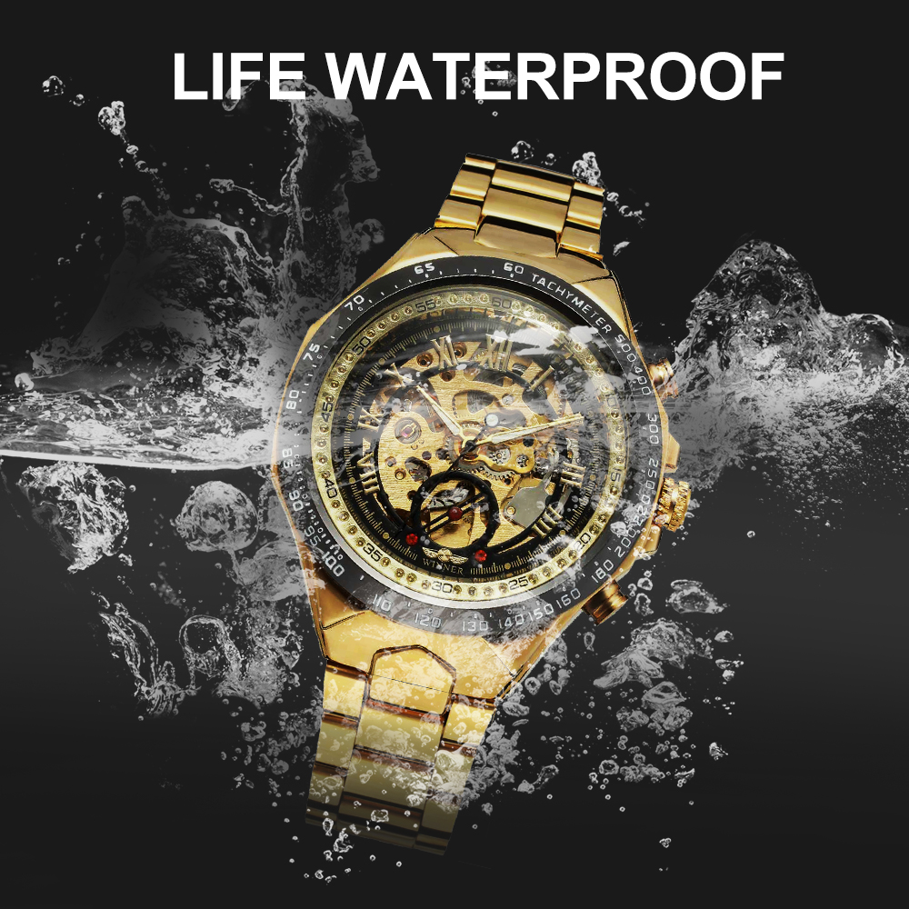 Image 5 - WINNER Official Vintage Fashion Men Mechanical Watches Metal Strap Top Brand Luxury Best Selling Vintage Retro Wristwatches +BOXMechanical Watches   -
