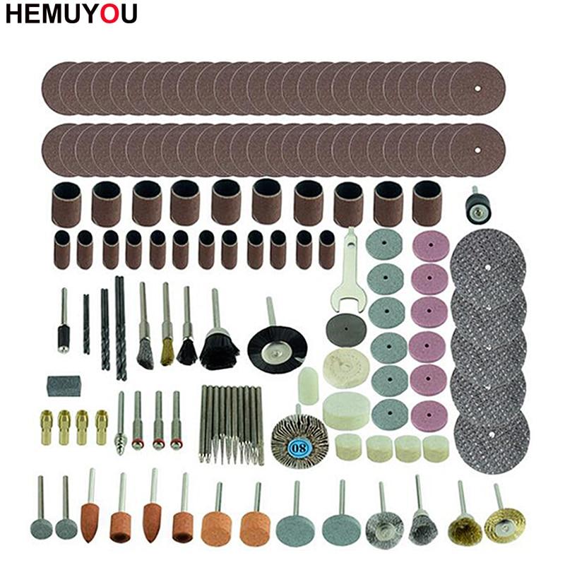 161pcs Mini Drill Bit Set Abrasive Tools Grinding Sanding Polishing Cutting Tool Kit For Dremel Accessories Set
