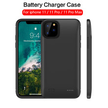 5200mah/6200mAH Battery Charger Case For iPhone 11 11 Pro Max Power Bank Bateria Extended Battery Case Protable Charging Cover(China)