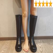 Platforma długie oryginalne skórzane damskie jesienne zimowe buty rycerskie moda gruby obcas wojskowe kolana wysokie Botas ciepłe buty tanie tanio SICCSAEE CU (pochodzenie) Prawdziwej skóry Podkolanówki Klamra Stałe Plac heel Podstawowe Skóra bydlęca Okrągły nosek