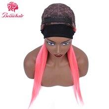 360 Headband Wig 1B Pink Wig Long Human Hair  Wigs Remy Brazilian Human Hair Wigs For Women