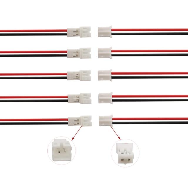 100/50 ペア JST PH2.0 2 1080P マイクロ jst 2pin 男性女性プラグジャックケーブル端子コネクタと 20 センチメートル 26AWG ワイヤー