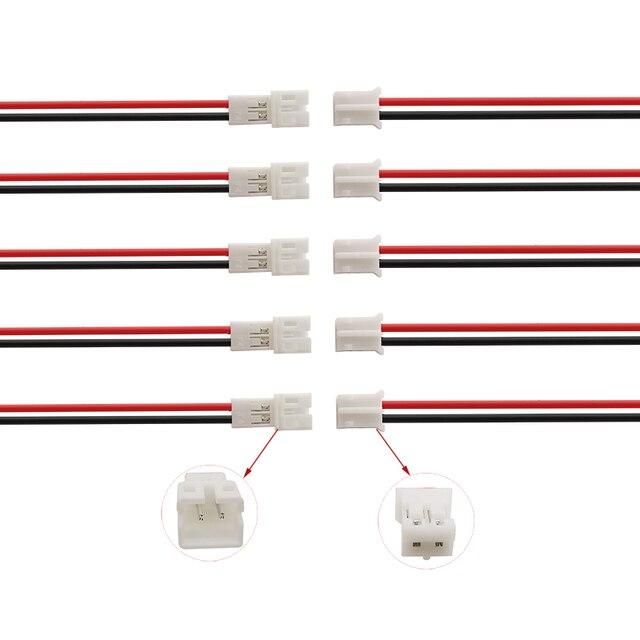 100/50 זוג JST PH2.0 2P מיקרו מחבר jst 2pin נקבה זכר Plug כבלי מסופי מחבר עם 20CM 26AWG חוט