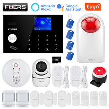 Fuers kit de alarme sem fio 4g wifi gsm tuya casa inteligente sistemas alarme segurança 433mhz apps controle lcd teclado toque 11 idiomas