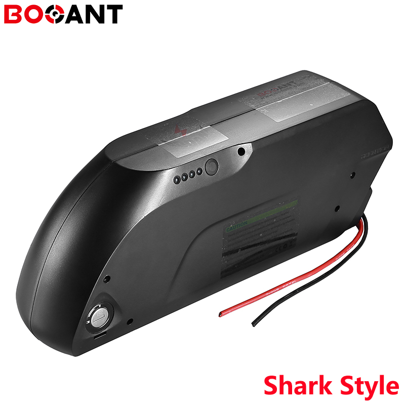 For 24V 36V 48V 52V shark Style 18650 battery case 7S 10S 13S 14S 18650 ebike lithium battery pack shell +power switch USB port