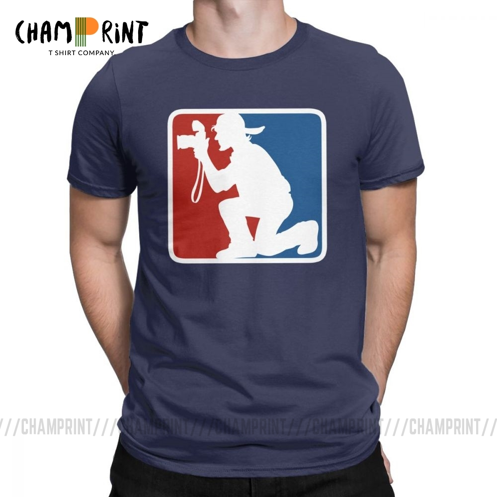 Photographer League T Shirts For Men 100% Cotton Awesome T-Shirt Crew Neck Tee Shirt Short Sleeve Tops Gift Idea