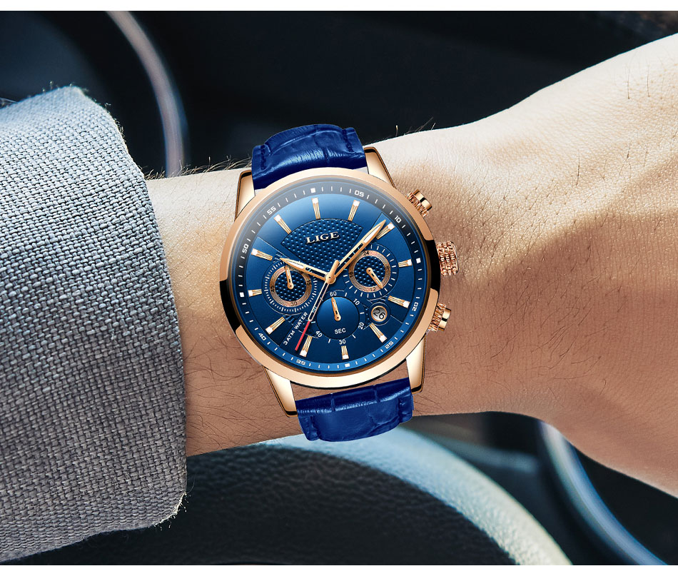 H8975f43332ff457098cd115dcd1ee053N LIGE New Men Watch Top Brand Blue Leather Chronograph Waterproof Sport Automatic Date Quartz Watches For Mens Relogio Masculino