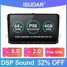 Isudar 1 Din Auto Radio Android 10 Voor Vw/Golf/Polo/Passat/Skoda/Fabia/octavia/Seat/Leon Auto Multimedia Video Player Gps Usb Dvr