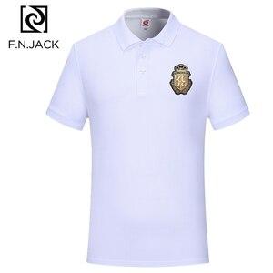 Image 5 - F. n. جاك جديد الإمالة عارضة قمم للرجل قصيرة كم مان الصيف بولو الرجال الكلاسيكية القطن قميص بولو