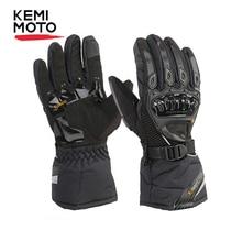 KEMiMOTO Winter Warm Motorcycle Gloves Touch Screen Waterproof Windproof Protective Winter Gloves Men Guantes Moto Luvas недорого