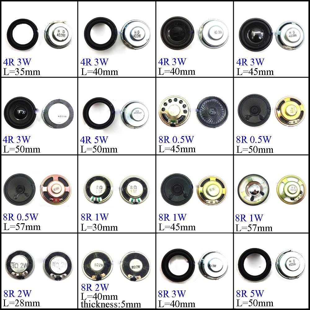 YuXi 4/8 Ohm 1W 2W 3W 4R 8R 0.5/1/2/3/5W 28mm 30mm 35mm 40mm 45mm 50mm 57mm  Diameter Loudspeaker Loud Speaker