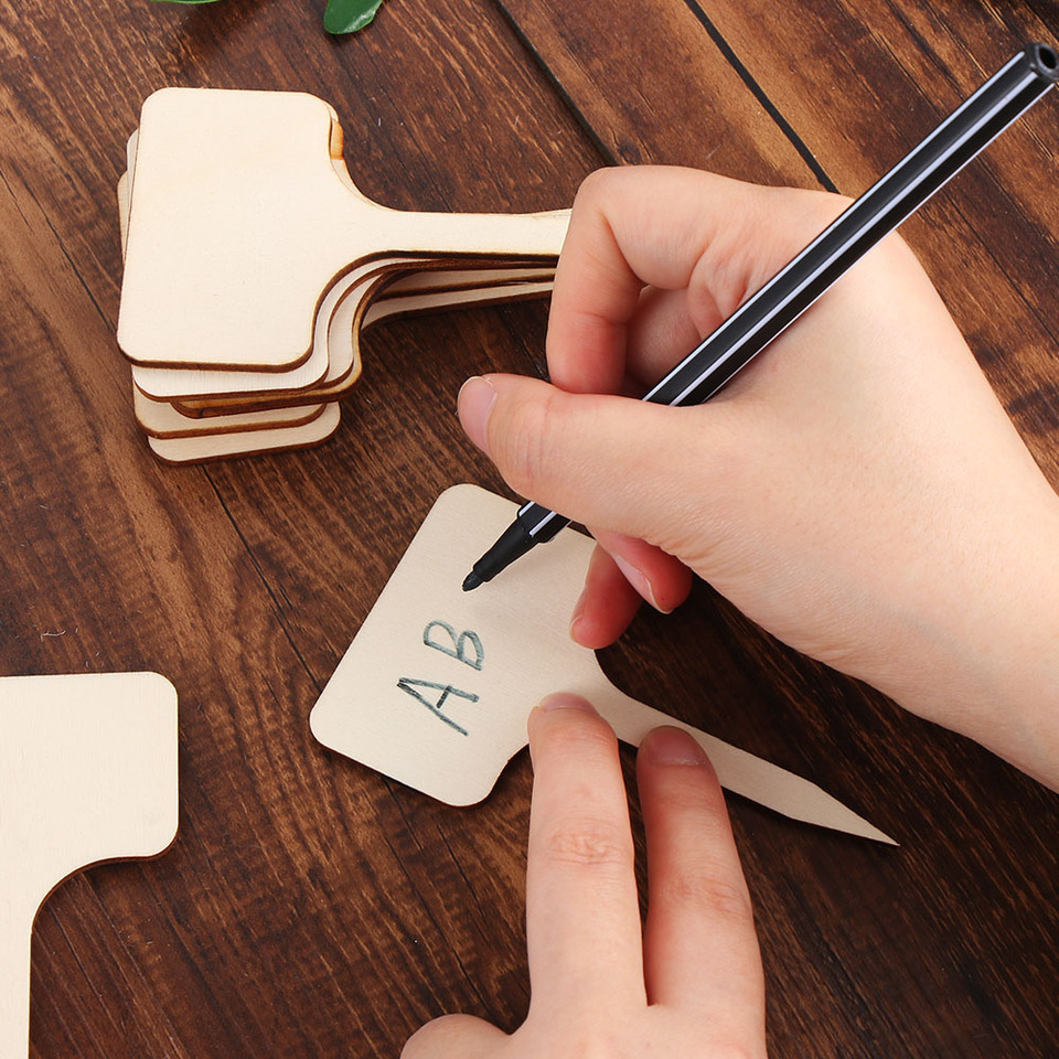 25Pcs Reusable Classification Gadgets Seedling Marking Plant Labels Bamboo Seeding Tags Planting Tools