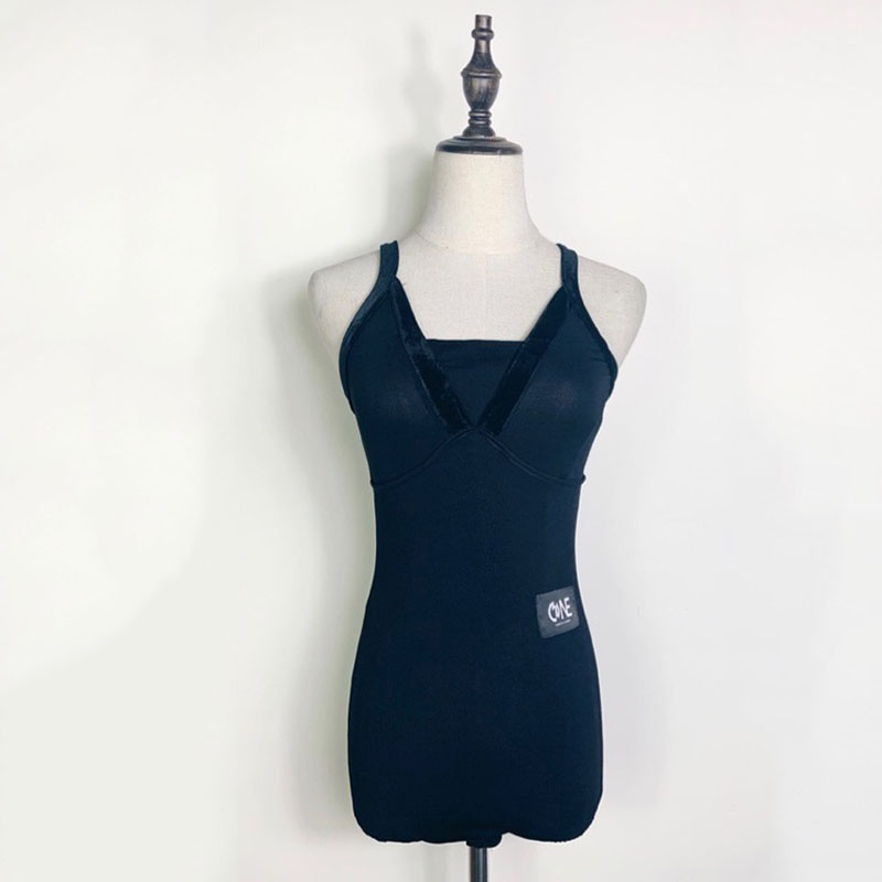 Women Latin Dance Tops Black Slim Tango Samba Cha Cha Rumba Salsa Ballroom Practice Wear Ladies Performance Clothes DC3681