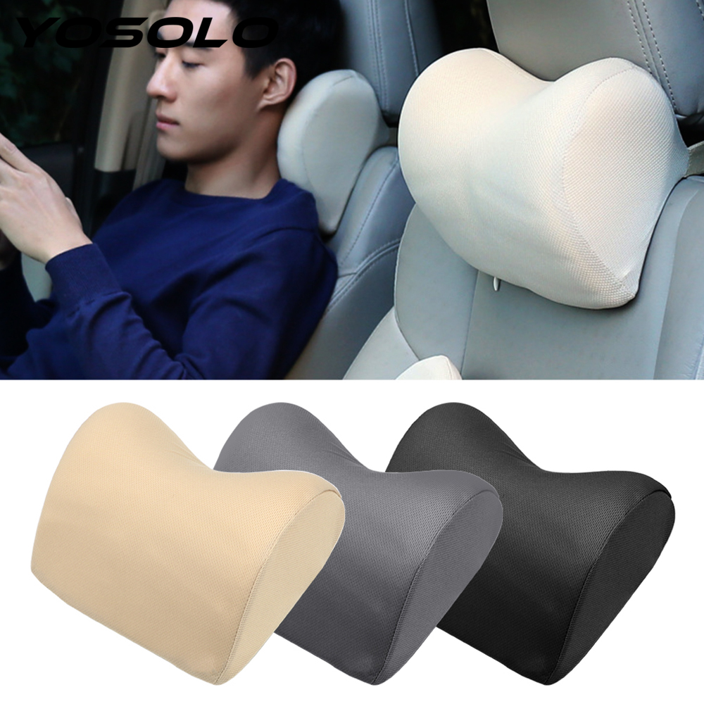 YOSOLO 1PCS Auto Head Rest Cushion Head Safety Support Pad For Seat Chair In Auto Car Headrest Neck Pillow Neck Protection
