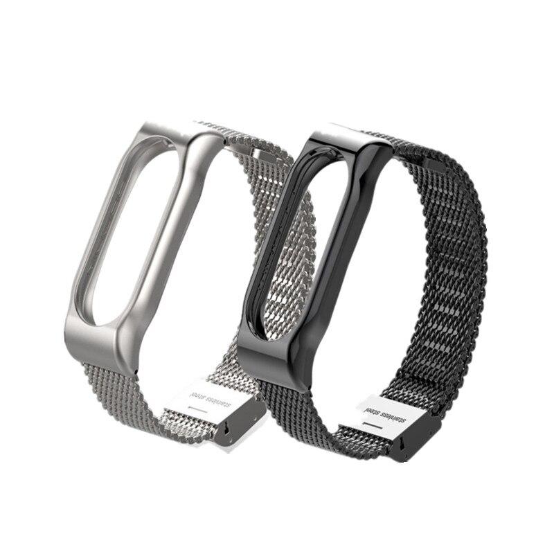 Mi Band 2 Strap Bracelet Wrist Strap Metal Mi Band2 Strap For Xiaomi Mi Band 2 Wristband Metal Miband 2 Bracelet