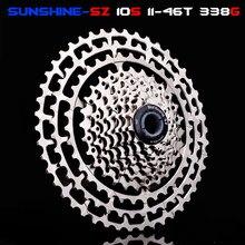 Mtb 10 velocidade slr bicicleta cassete 11-46 t relação de largura cnc ultraleve roda livre mountain bike fo shimano m6000 m8000